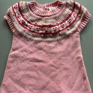 Lot of 2 Baby Gap Sweater Heart Dress Sz 12 18 Mon